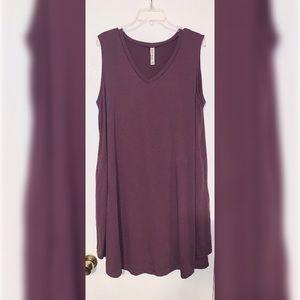 ' ZENANAPremium' Womens purple sleeveless dress 2X